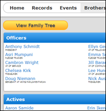 Screenshot of Membership Manager